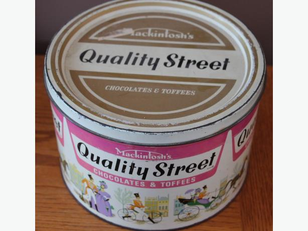 rare vintage legendary Chocolates Toffees Mackintos's Quality Street tin