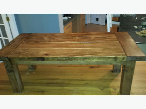 Rustic fir coffee table outside nanaimo parksville for Rustic beach coffee table
