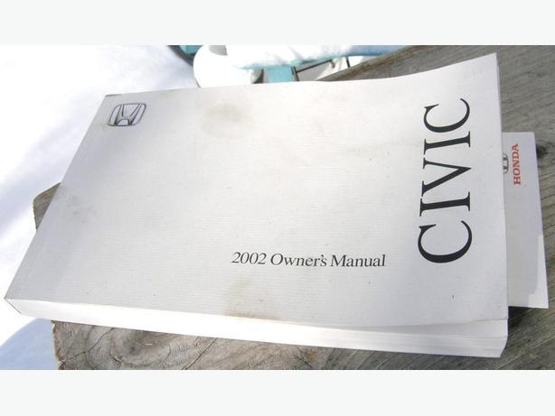 2002 HONDA CIVIC Owners Manual VGC