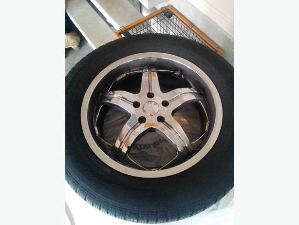 4 18 Quot Chrome Rims W Tires Off Audi Q5 Oak Bay Victoria