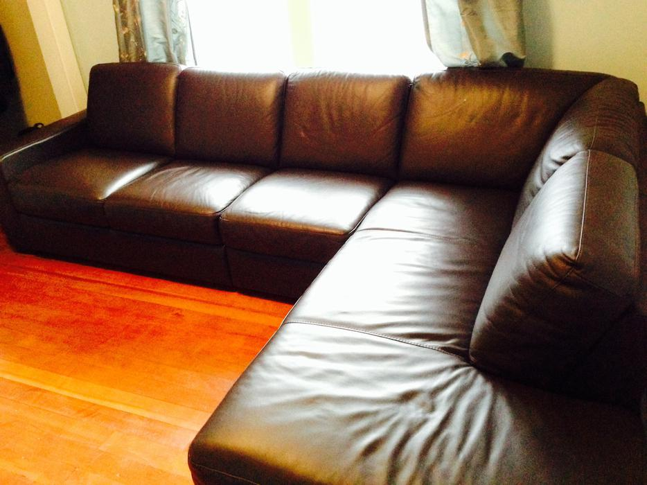 High End Leather Sofa Oak Bay Victoria MOBILE