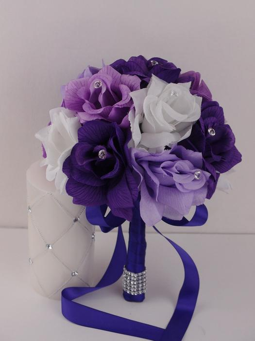 Flower Girl Baskets Toronto : Shades of purple bouquets corsage and flower girl basket