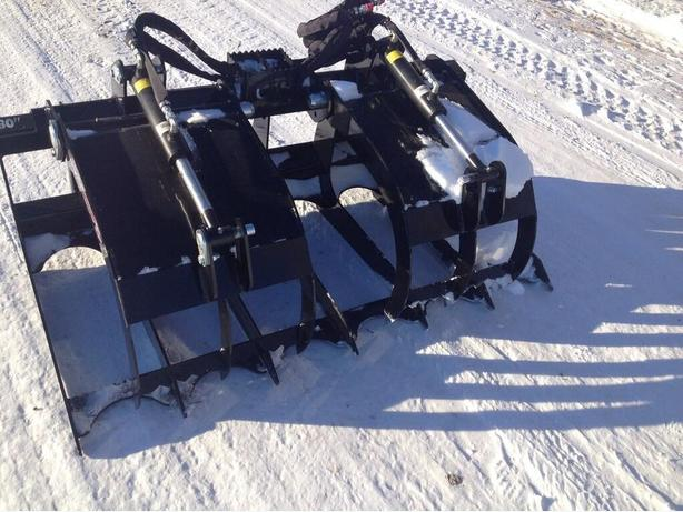 """60"""" and 72""""  Economy Skid Steer Mounted Brush Grapple"""