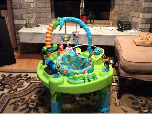 3 In 1 Exersaucer Triple Fun Jungle Theme Used Only 2
