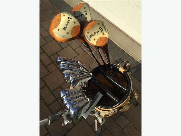 Golf Clubs Bag And Cart Macgregor Jack Nicklaus Golden