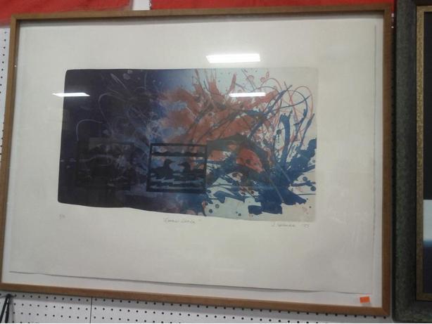 "Print ""Loon's Dance"" by D. Holman"