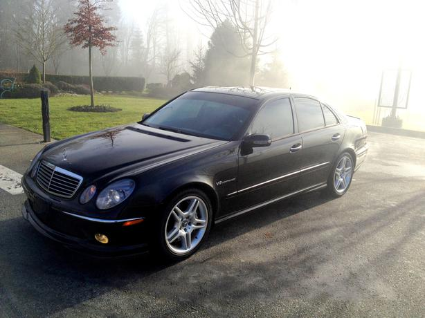 2003 mercedes e55 amg v8 kompressor 63 000 km clean for Mercedes benz v8 kompressor