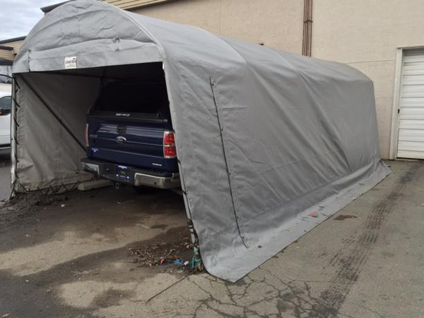 Temporary Garage 12x24 : Portable garage heavy duty victoria city