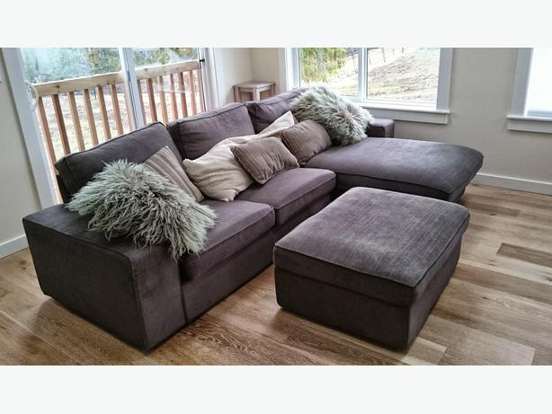 like new ikea kivik loveseat sofa with chaise matching. Black Bedroom Furniture Sets. Home Design Ideas