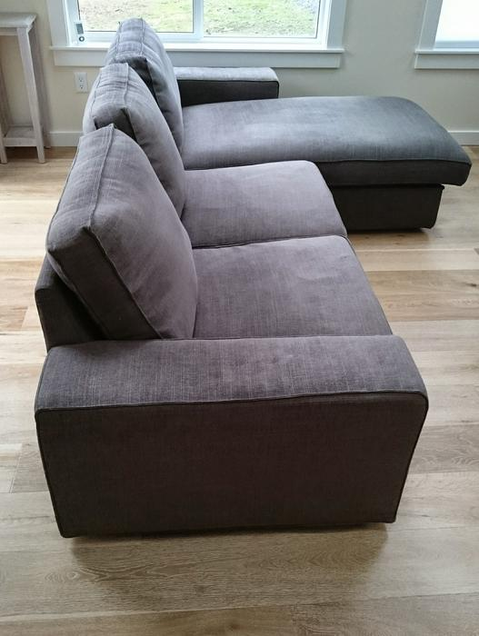 Ikea Kivik Chaise Lounge Google Search: Like New IKEA KIVIK Loveseat Sofa With Chaise, Matching