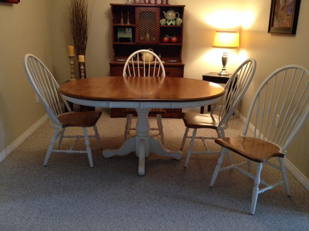 Canadian made solid wood beautiful country style dining set