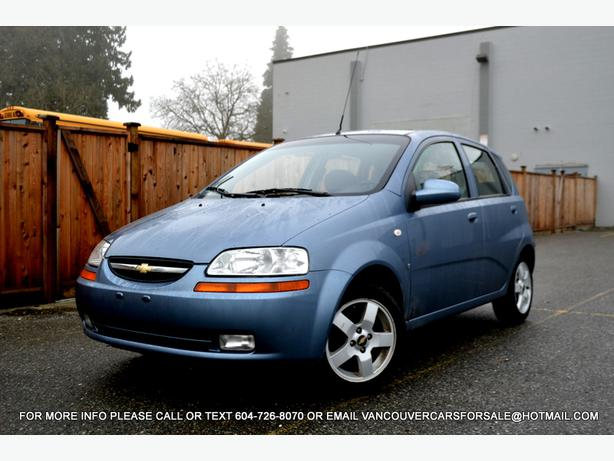 2007 chevy aveo lt 5 speed manual hatchback surrey incl. Black Bedroom Furniture Sets. Home Design Ideas