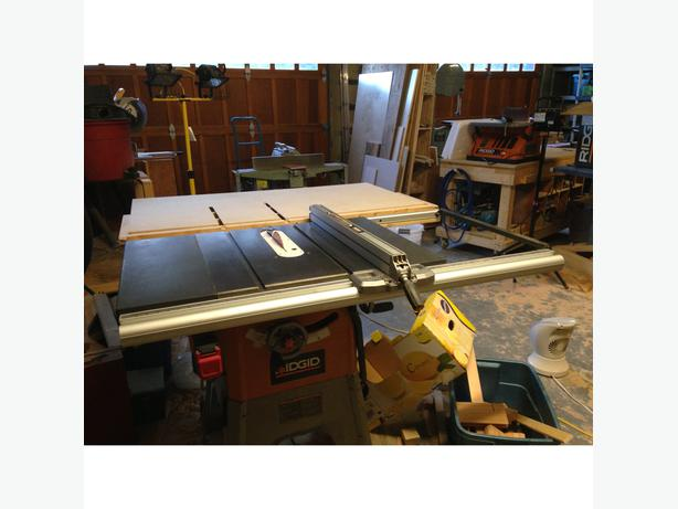 Ridgid table saw r4512 saanich victoria for 10 cast iron table saw r4512
