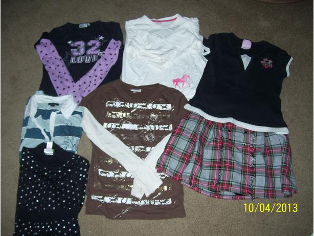 Girls clothing lot Size 14 tops skirt