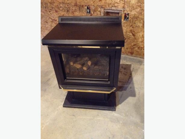 free standing gas fireplace black creek comox valley