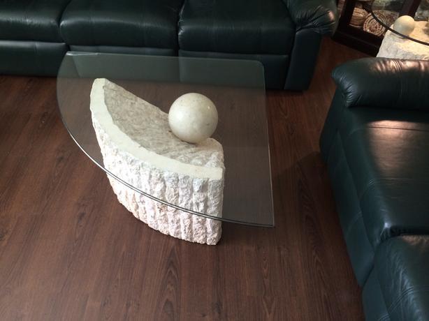 Fossil stone coffee table set north regina regina for Fossil coffee table