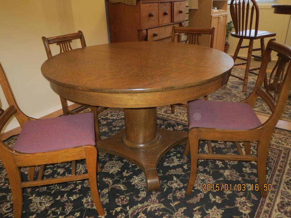 antique round table and chairs antique oak pedestal table amp chairs central ottawa 7486