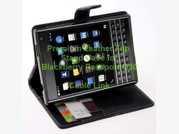 Premium Wallet Stand Folio Case for Blackberry Passport