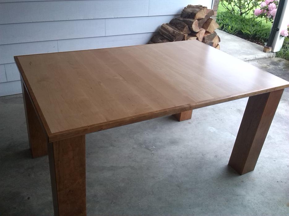 Custom Made Solid Maple And Cherry Dining Table Victoria