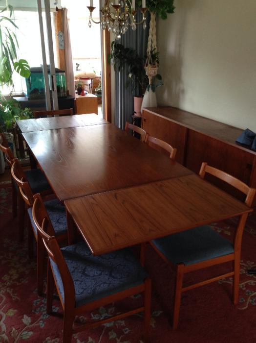 TEAK Dining Table and Chairs Saanich Victoria : 44607973934 from www.usedvictoria.com size 524 x 700 jpeg 43kB