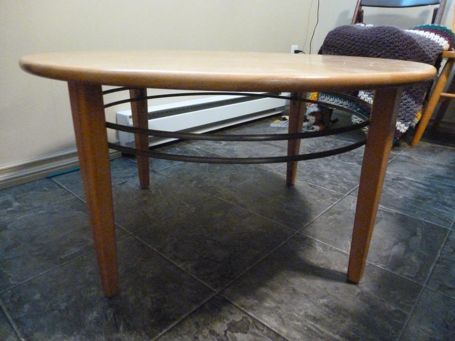 Solid Birch Wood Coffee Table Duncan Cowichan
