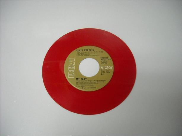 ELVIS PRESLEY RED VINYL 45 RPM RECORD