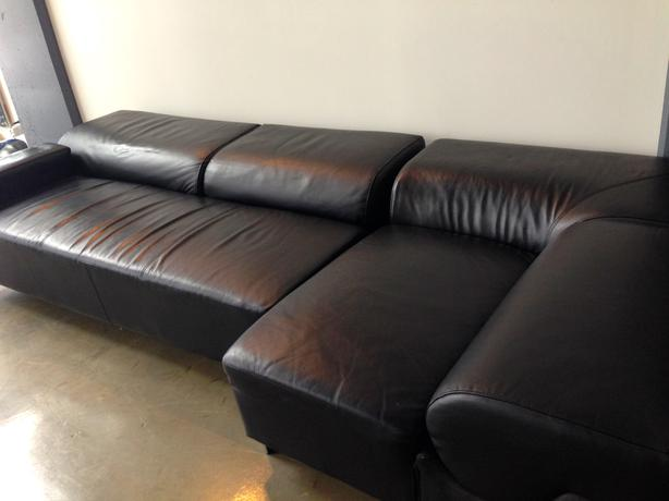Two Piece Leather Couch For Sale Downtown Calgary