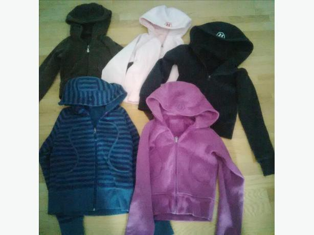 Lots of Lulu lemon sweaters & jackets for sale (size 4-6)