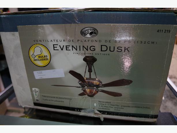 Hampton Bay Evening Dusk Ceiling Fan Chandelier Light