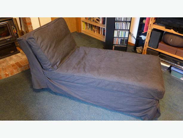 Ikea ektorp chaise longue jonsboda brown saanich victoria for Chaise longue montreal