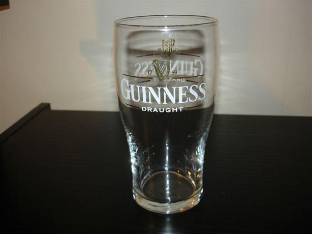 Guinness Draught Pint Beer Glass 16 oz. Great for Cottage, Man Cave!