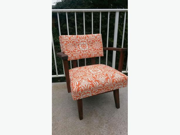 Vintage 1950s Reupholstered Accent Rocker Chair South