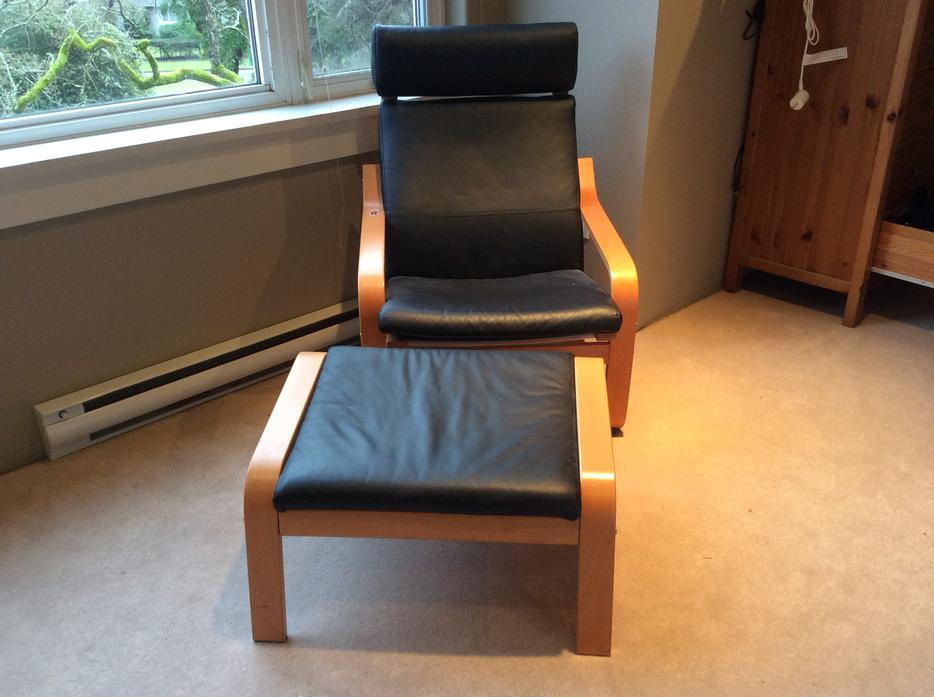 ikea poang chairs black leather oak bay victoria