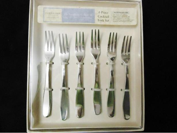 Stainless Steel Cocktail Forks by Cambridge - New