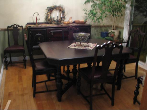 antique walnut dining room set