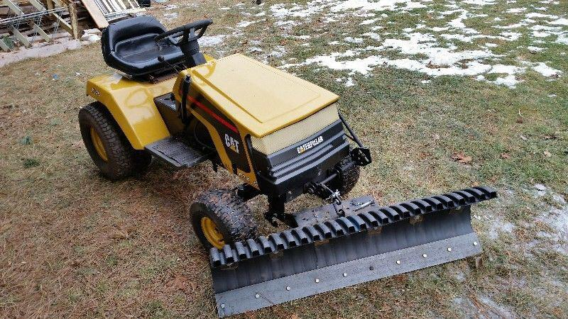 Craftsman Lawn Mower Snow Plow : Ride on craftsman garden tractor with quot snow blade
