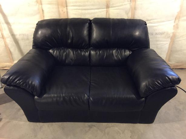Black Pleather Couch Amp Love Seat North Regina Regina