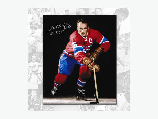 Henri Richard Autographed 8x10 and other Habs as well