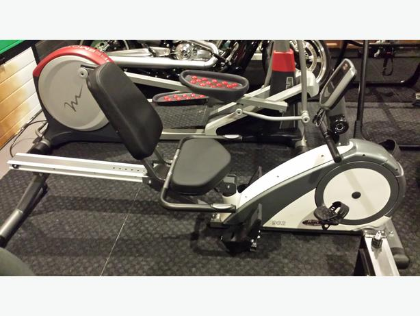 bike and rowing machine