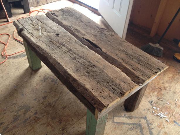 Reclaimed barn board coffee table charlottetown pei for Barn board coffee table
