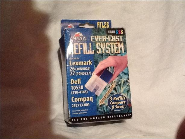 Lexmark, Dell or Compaq ink refill system