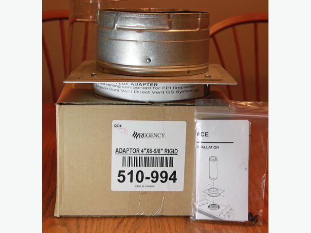 "Gas Fireplace vent adaptor Regency 4"" X 6-5/8"" rigid"