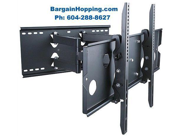 """36""""-80"""" Heavy Duty Adjustable Tilting Swiveling TV Wall Mount Bracket"""