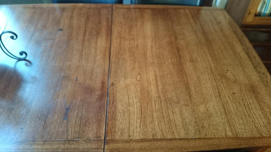 Mid Century Modern Dining Room Table And 4 Leather Chairs