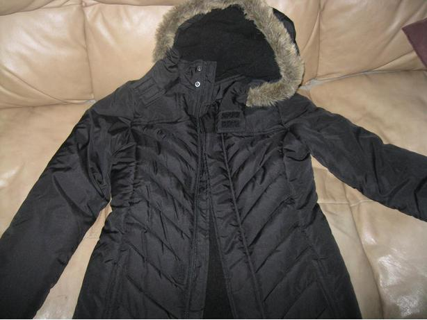 Girls 3/4 Length WInter Jacket with Hood - size 10/12