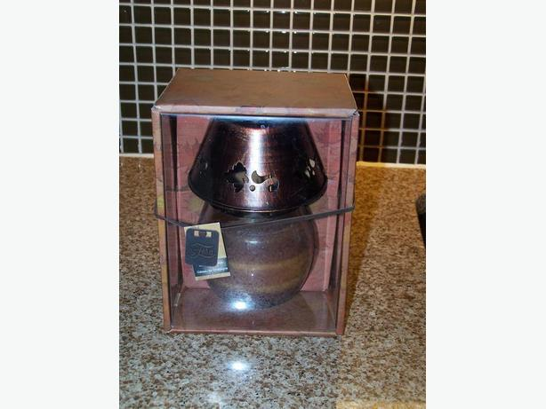 Candle Lamp with metal shade - brand new