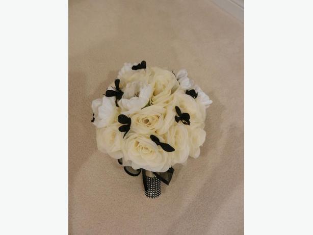 Silk Wedding Flowers (ivory, white, black)