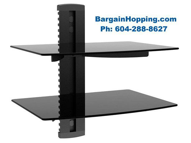 AV Audio Video Component DVD Dual Shelf Bracket