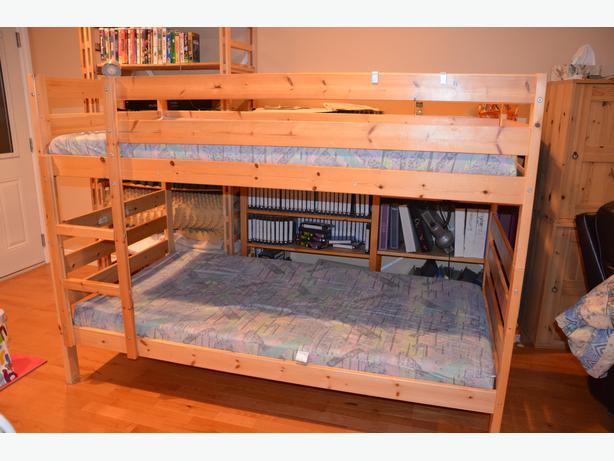 log in needed 175 ikea pine bunk beds