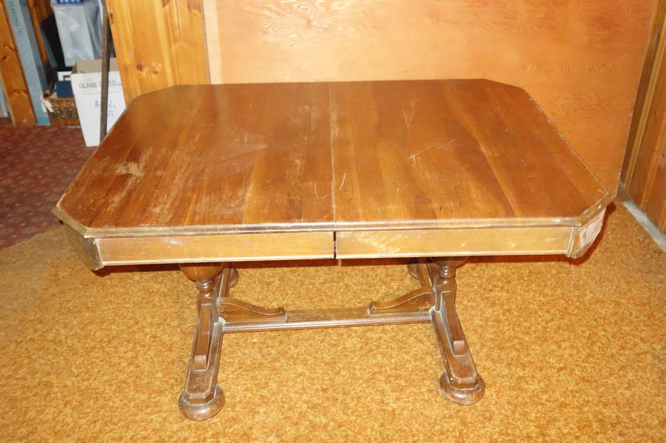 antique dining room oak table kelowna okanagan